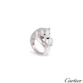 Cartier White Gold Pearl Panthere Ring